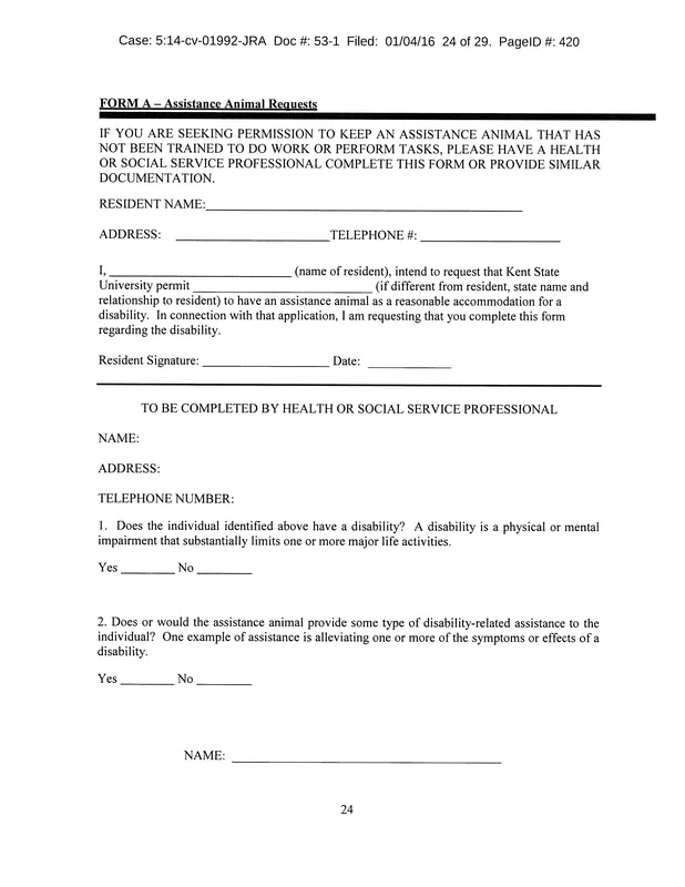 Sample Reasonable Accommodation Form - High Plains Fair Housing